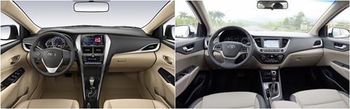 So sánh xe Toyota Vios 2020 và Hyundai Accent 2020 về trang bị tiện nghi